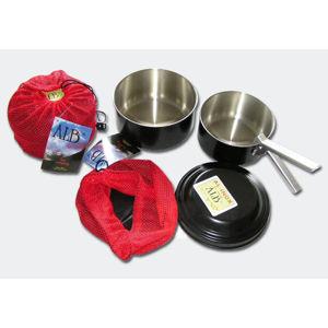 Sendvičové - skládací čtyřdílné kempingové nádobí ALB® AL-INOX