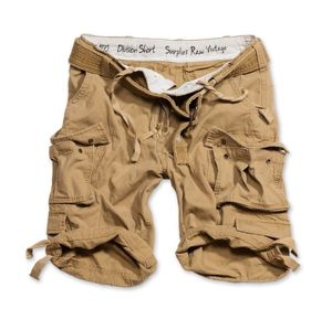 Kraťasy RAW VINTAGE SURPLUS® Division Shorts - coyote (Barva: Coyote, Velikost: S)