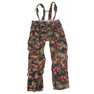 Kalhoty polní se šlemi originál švýcarské armády použité (Velikost: 100 pas / délka od rozkroku 76 cm)