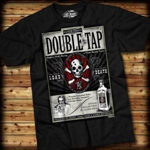 Pánské tričko DOUBLE TAP 7.62 Design® - černé (Barva: Černá, Velikost: S)