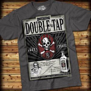 Pánské tričko DOUBLE TAP 7.62 Design® - šedé (Barva: Šedá, Velikost: XXL)