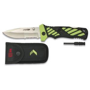 Zavírací nůž RUI® 19447 Energy Yowie - kombinované ostří - zelený