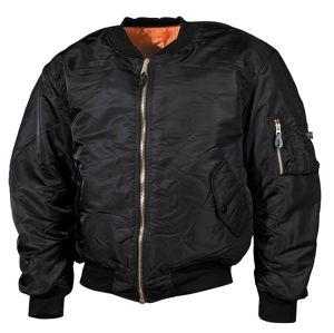 """Bunda MFH® Flight Jacket MA1 """"Bomber""""- černá (Barva: Černá, Velikost: M)"""