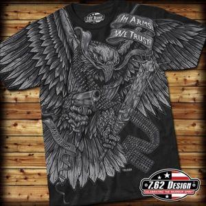 Pánské tričko IN ARMS WE TRUST 7.62 Design® - černé (Barva: Černá, Velikost: M)