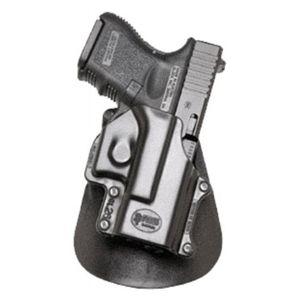 Pistolové pouzdro FOBUS® GL-26 LH EX stehenní s pádlem na pistoli Glock - pro leváky