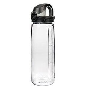 Polní lahev NALGENE® OTF - čirá (průhledná) s černým víkem (Barva: Čirá, Varianta: s černým víkem)