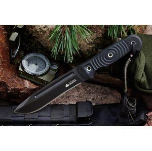Nůž s pevnou čepelí KIZLYAR SUPREME® Maximus D2 - černý Titanium (Barva: Černá, Varianta: Černá čepel – Titanium Coating)