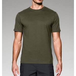 Triko UNDER ARMOUR® Charged Cotton® - zelené (Barva: Olive Green, Velikost: XL)