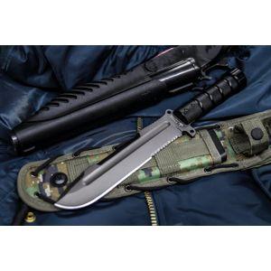 Nůž s pevnou čepelí KIZLYAR SUPREME® Survivalist X D2 Stone Wash