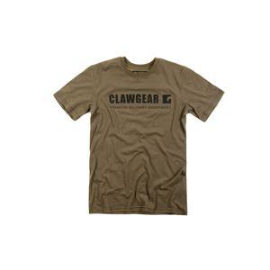 Bavlněné tričko CLAWGEAR® Logo TEE s krátkým rukávem - RAL7013 (Barva: RAL7013, Velikost: M)