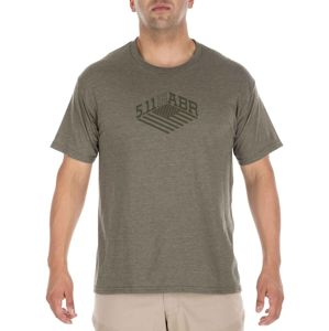 Tričko 5.11 Tactical® Stronghold -  Military Green Heather (Barva: Military Green Heather, Velikost: S)