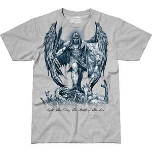 Pánské tričko 7.62 Design® St Michael Fight This Day - šedé (Velikost: XL)
