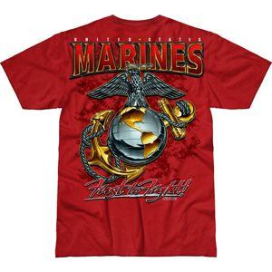 Pánské tričko 7.62 Design® USMC Eagle, Globe & Anchor - červené (Barva: Červená, Velikost: M)