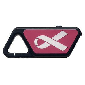 USB LED svítilna ASP® Sapphire - polymerový rám, růžová, stužka (Barva: Růžová / bílá)