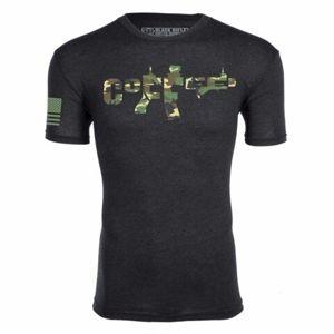 Triko BRCC® AR Coffee Shirt - černé s maskovacím potiskem (Barva: Černá, Velikost: XL)