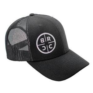 Kšiltovka BRCC® Logo Trucker Hat - černá s černou síťovinou (Barva: Černá)