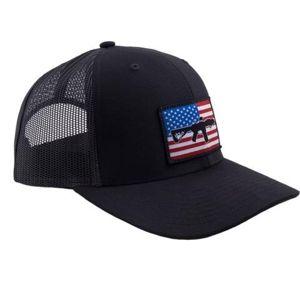 Kšiltovka BRCC® Flag AR Patch Trucker Hat - černá s černou síťovinou (Barva: Černá)