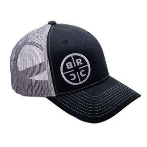Kšiltovka BRCC® Logo Trucker Hat - černá s šedou síťovinou (Barva: Černá / šedá)
