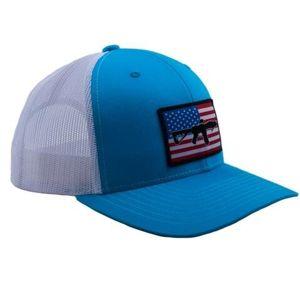 Kšiltovka BRCC® Flag AR Patch Trucker Hat - modrá s bílou síťovinou (Barva: Modrá / bílá)