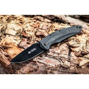 Zavírací nůž KIZLYAR SUPREME® Zedd AUS 8 - černý (Barva: Černá, Varianta: Černá čepel – Titanium Coating)