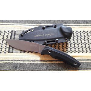 Nůž s pevnou čepelí KIZLYAR SUPREME® Savage AUS 8 DSW - černý - šedý (Barva: Černá, Varianta: Šedá čepel – Stone Wash)