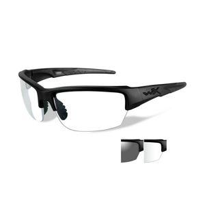 Střelecké brýle Wiley X® Saint, sada - černý rámeček, sada - čiré a kouřově šedé čočky (Barva: Černá, Čočky: Čiré + Kouřově šedé)