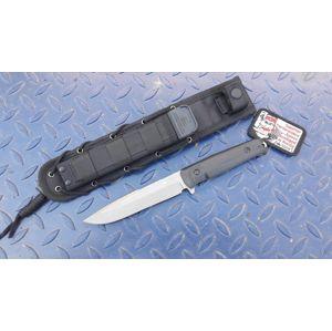 Nůž s pevnou čepelí KIZLYAR SUPREME® Delta AUS 8 - černý DSW (Barva: Černá, Varianta: Šedá čepel – Stone Wash)