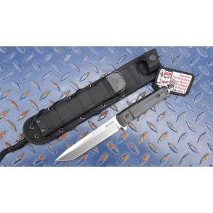 Nůž s pevnou čepelí KIZLYAR SUPREME® Aggressor AUS 8 - černý S + SW (Barva: Černá, Varianta: Šedá čepel S + SW – Satin + Stone Wash)