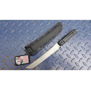 Nůž s pevnou čepelí KIZLYAR SUPREME® Sensei D2 - černý DSW (Barva: Černá, Varianta: Šedá čepel – Stone Wash)