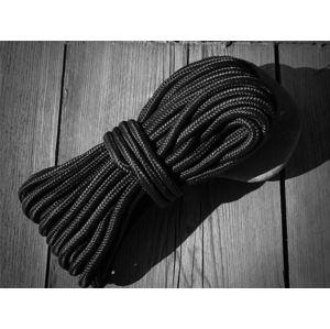 Commando lano Mil-Tec® - 5mm x 15m - černé (Barva: Černá)