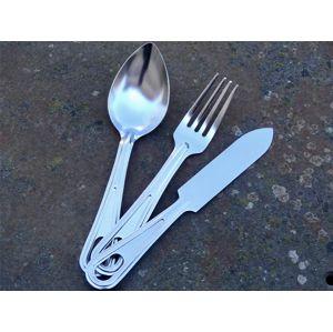 US jídelní příbor 3-dílný Mil-Tec® - stříbrný