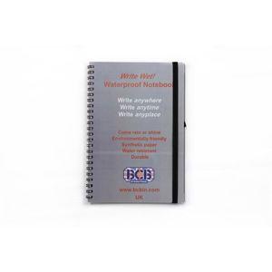Voděodolný zápisník PVC Cover A5 BCB®  (Barva: Šedá)