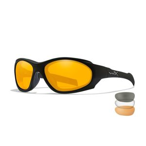 Sluneční brýle XL-1 Advanced COMM Wiley X® – Čiré + Kouřově šedé + Oranžové Light Rust, Černá (Barva: Černá, Čočky: Čiré + Kouřově šedé + Oranžové Lig