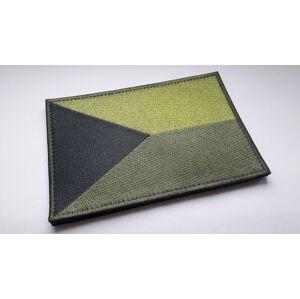 Vyšívaná vlajka na suchý zip Česká republika TA® 13 cm x 9 cm – Zelená (Barva: Zelená)